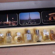 Miniaturas de perfumes antiguos: LES MEILLEURS PARFUMS COFRE DE 10. Lote 208248171