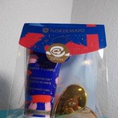 Miniaturas de perfumes antiguos: CUORE GOLD PERFUME MINIATURA FLOR DE MAYO SET REGALO CON CREMA. Lote 208317665