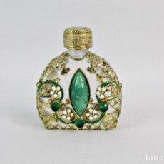 Miniaturas de perfumes antiguos: SNUFF BOTTLE DE COLECCIÓN PERFUMERO DE CRISTAL DE MURANO Y LABRADOS, GEMAS Y DETALLES PRECIOSOS. Lote 210644482