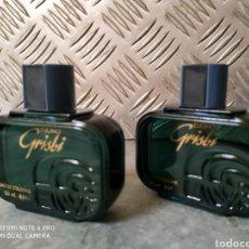 Miniaturas de perfumes antigos: 2 BOTELLAS COLONIA GRISBI 30ML A ESTRENAR SIN ABRIR DESCATALOGADOS. Lote 210829129
