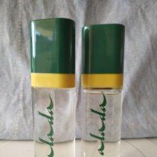 Miniaturas de perfumes antigos: 2 BOTELLAS ANTIGUO ATOMIZADOR TESTER COLONIA ALADA 30ML. DE MYRURGIA. Lote 211448846
