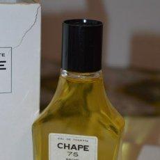 Miniaturas de perfumes antiguos: EAU DE TOILETTE - CHAPE 75 , DE PERFUMES BACHS / GIRONA REF 108 / 125 ML./ SIN ABRIR ¡MIRA!. Lote 211691979