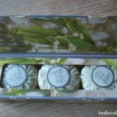 Miniaturas de perfumes antiguos: ANTIGUOS JABONES AVON . LILY OF THE VALLEY. Lote 212201075