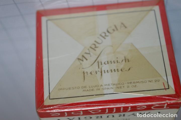 Miniaturas de perfumes antiguos: ANTIGUO FRASCO COLONIA / PERFUME - MAJA de MYRURGIA - NUEVA, en su caja precintada - ¡Mira fotos! - Foto 7 - 212966711