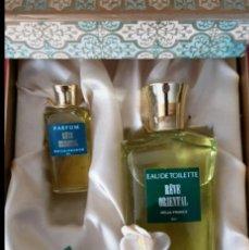 Miniaturas de perfumes antiguos: COFRE MINIATURAS DE PERFUME VINTAGE REVE ORIENTAL NEIJA. Lote 213347083