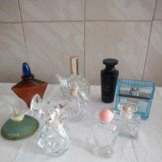 Miniaturas de perfumes antiguos: LOTE DE FRASCOS DE PERFUME VACIOS VARIAS MARCAS.. Lote 213448251
