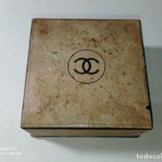 Miniaturas de perfumes antiguos: ANTIGUO Y ORIGINAL CAJA POLVOS MAQUILLAJE MARCAS CHANEL ORIGINAL. Lote 213463686