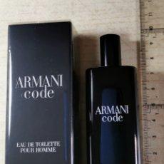 Échantillons de parfums anciens: PERFUME HOMBRE ... ARMANI CODE .. GIORGIO ARMANI ... 15 ML. Lote 213494878