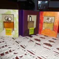 Miniaturas de perfumes antiguos: ESTUCHE 3 MINIATURAS DE COLONIAS Y PERFUMES KENZO. Lote 213909810