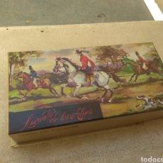Miniaturas de perfumes antiguos: ANTIGUA CAJA DE JABÓN VERA - LAVANDA DE LOS ALPES -. Lote 214031931