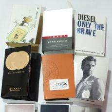 Échantillons de parfums anciens: VARIAS MUESTRAS DE PERFUMES CON SU HOJA DE PRESENTACION.. Lote 214333951