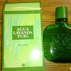 Miniaturas de perfumes antiguos: AGUA DE LAVANDA PUIG, 100 ML. LLENA EN SU CAJA PROMOCION IBERCAJA. Lote 219116488