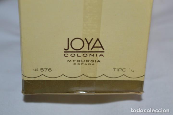 Miniaturas de perfumes antiguos: ANTIGUO FRASCO COLONIA - JOYA de MYRURGIA Ref 576 / 200 Ml NUEVA / CAJA - MADE IN SPAIN ¡Precintada! - Foto 2 - 220974785