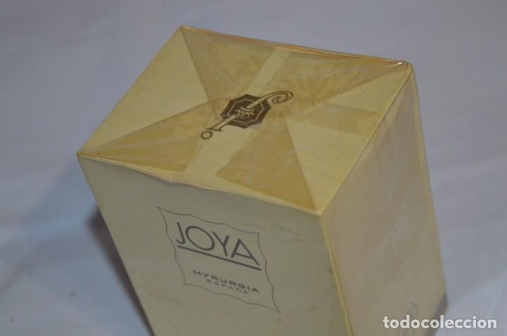 Miniaturas de perfumes antiguos: ANTIGUO FRASCO COLONIA - JOYA de MYRURGIA Ref 576 / 200 Ml NUEVA / CAJA - MADE IN SPAIN ¡Precintada! - Foto 5 - 220974785