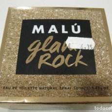 Miniaturas de perfumes antiguos: COLONIA MALU GLAM ROCK EAU DE TOILETTE 100 ML. Lote 222186087