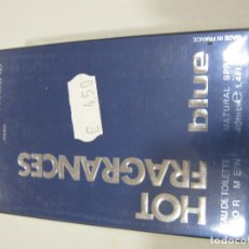 Miniaturas de perfumes antiguos: COLONIA ULRIC DE VARENS HOT FRAGANCES BLUE FOR MEN EAU DE TOILETE 40ML. Lote 222186492