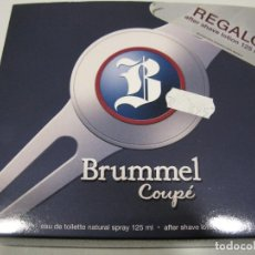 Miniaturas de perfumes antiguos: COLONIA ESTUCHE BRUMMEL COUPE EAUDE TOILETTE 125ML + AFTER SHAVE. Lote 222186568