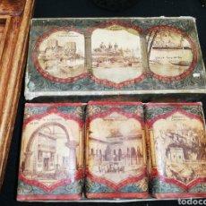 Miniaturas de perfumes antiguos: ANTIGUOS JABONES FERIA DE BARCELONA .. CAJA. ENVOLTORIOS.ORIGINAL. AÑOS 30..CONSERVADO HASTA EL OLO.. Lote 222993016
