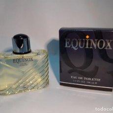 Miniaturas de perfumes antiguos: FRASCO DE COLONIA EQUINOX DE MYRURGIA 100ML // LLENO DE ANTIGUA PERFUMERIA. Lote 236954745
