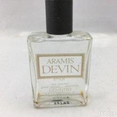 Miniaturas de perfumes antiguos: BOTELLA EN MINIATURA DE ARAMIS DEVIN COUNTRY AFTER SHAVE - VACIA. Lote 223566638