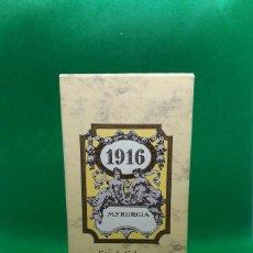 Miniaturas de perfumes antiguos: COLONIA, PERFUME MYRURGIA 1916 - NUEVA 100 ML - EAU DE COLOGNE. Lote 223596920