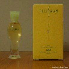 Miniaturas de perfumes antigos: MINIATURA DE PERFUME TALISMAN DE BALENCIAGA PARÍS EAU TRANSPARENTE 5ML COLONIA. Lote 228026750