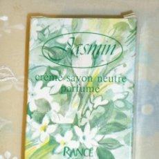 Miniaturas de perfumes antiguos: PASTILLA DE JAVON JASMIN DE RANCE 1795,MILANO,MADE IN ITALY.. Lote 232036085