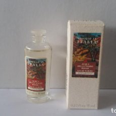 Miniaturas de perfumes antigos: MINIATURA ACQUA DELLE TERRE ROSSE- VIAGGIO IN ITALIA DE BORSARI. Lote 233365885