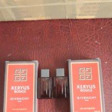 Miniaturas de perfumes antiguos: XERYUS GIVENCHY 5 ML. LOTE DE 2 Y 2 MUESTRAS. Lote 234009255
