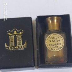 Miniaturas de perfumes antigos: VIEUX PARIS LEGRAIN PARIS CON CAJA DE BAQUELITA 33/21. Lote 234534890