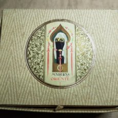 Miniaturas de perfumes antiguos: CONJUNTO COLONIA JABON MADERAS DE ORIENTE MYRURGIA. Lote 236041890