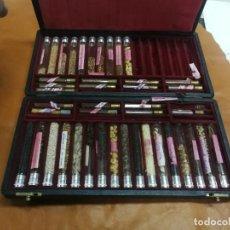 Miniaturas de perfumes antiguos: RARA CAJA MUESTRARIO DE PRODUCTOS DE PERFUMERIA CELI DE BARCELONA SEMILLAS PRINCIPIOS S. XX UNICA TC. Lote 236985790