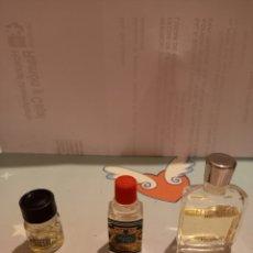 Miniaturas de perfumes antiguos: PERFUMES MIRACLE HOMME; 4711 Y MUESTRA ACEITE CLARINS. Lote 240346790