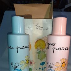 Miniaturas de perfumes antiguos: ESTUCHE CON COLONIA Y CHAMPU PARA MI BEBE DE VERA // SIN USO DE ANTIGUA PERFUMERÍA DROGUERÍA. Lote 242006300