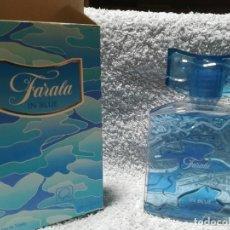 Miniaturas de perfumes antiguos: COLONIA FARALA IN BLUE. 100 ML. GAL. EN CAJA.. Lote 244412355
