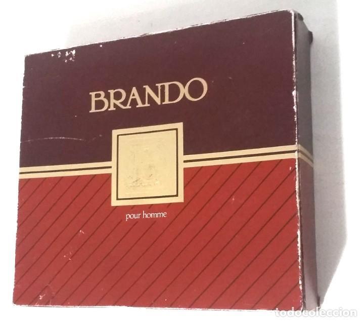 ESTUCHE COLONIA BRANDO. FRASCO COLONIA 100 ML. FRASCO MASAJE 100ML. (Coleccionismo - Miniaturas de Perfumes)