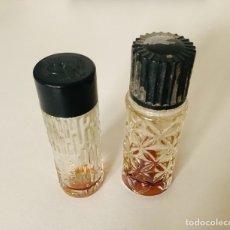 Miniaturas de perfumes antiguos: LOTE VINTAGE: DOS FRASCOS CRISTAL TALLADO DE MUESTRA PERFUME WEIL Y MOTOR RACING. AÑOS 70. Lote 252622325