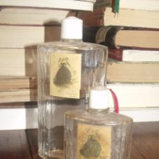 Échantillons de parfums anciens: DOS BOTELLAS FRASCOS VACIOS ( 14 Y 8,5 CMS APROX) PROMESA DE MYRURGIA. Lote 252878760