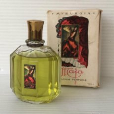 Miniaturas de perfumes antiguos: NUEVA MAJA. COLONIA PERFUME. MYRURGIA. 3 1/2 FL. OZS. Lote 255495100