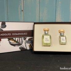 Miniaturas de perfumes antiguos: COLONIA DE ADOLFO DOMÍNGUEZ CON CAJA. Lote 255950535