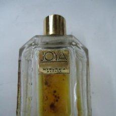 Miniaturas de perfumes antiguos: BOTELLA JOYA DE MYRURGIA ES DE LOS AÑOS 1920 LA BOTELLA CON UN PEQUEÑO RESTO DE PERFUME. Lote 257625365