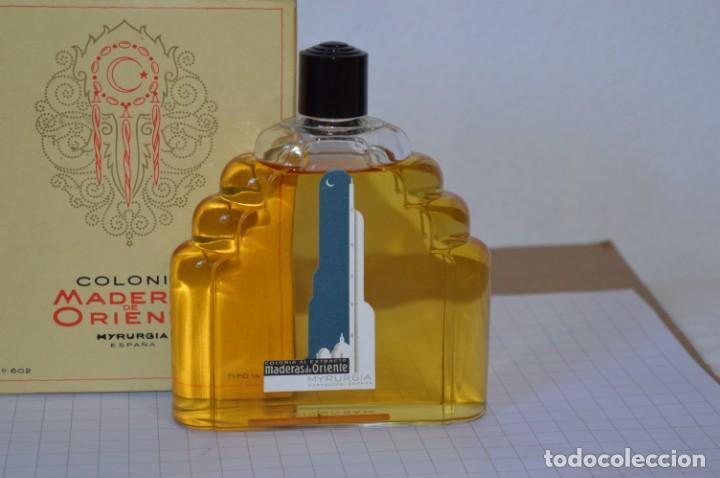 Miniaturas de perfumes antiguos: 1/4 Litro / Muy antiguo, frasco / MADERAS DE ORIENTE - MYRURGIA - Original - ¡Mira fotos/detalles! - Foto 2 - 260832050