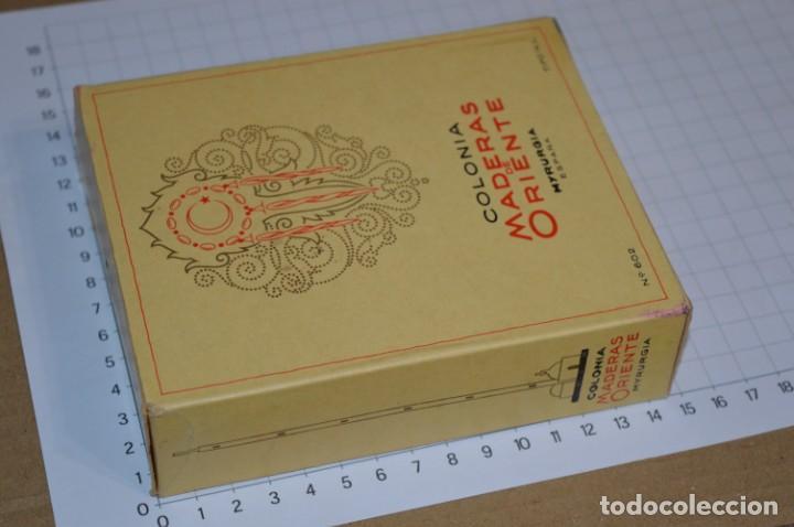Miniaturas de perfumes antiguos: 1/4 Litro / Muy antiguo, frasco / MADERAS DE ORIENTE - MYRURGIA - Original - ¡Mira fotos/detalles! - Foto 6 - 260832050