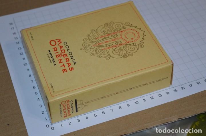 Miniaturas de perfumes antiguos: 1/4 Litro / Muy antiguo, frasco / MADERAS DE ORIENTE - MYRURGIA - Original - ¡Mira fotos/detalles! - Foto 7 - 260832050