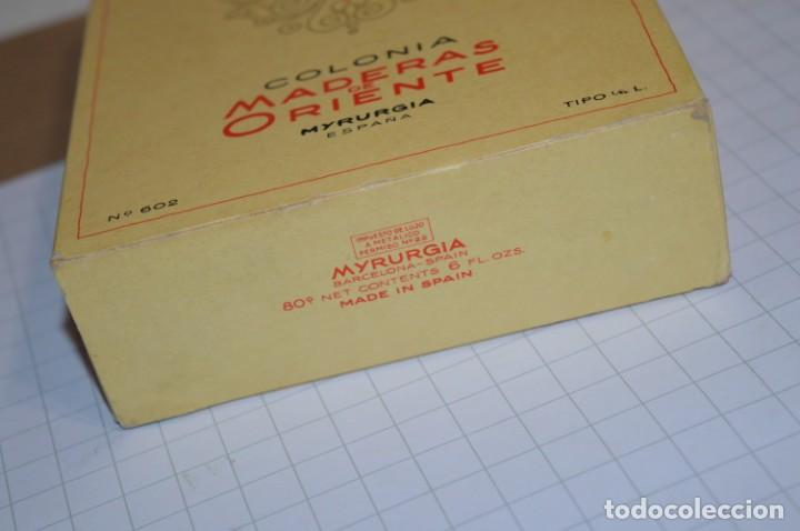 Miniaturas de perfumes antiguos: 1/4 Litro / Muy antiguo, frasco / MADERAS DE ORIENTE - MYRURGIA - Original - ¡Mira fotos/detalles! - Foto 8 - 260832050