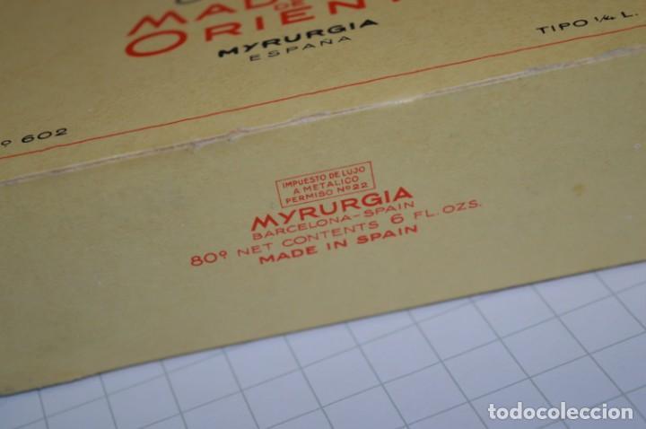 Miniaturas de perfumes antiguos: 1/4 Litro / Muy antiguo, frasco / MADERAS DE ORIENTE - MYRURGIA - Original - ¡Mira fotos/detalles! - Foto 9 - 260832050