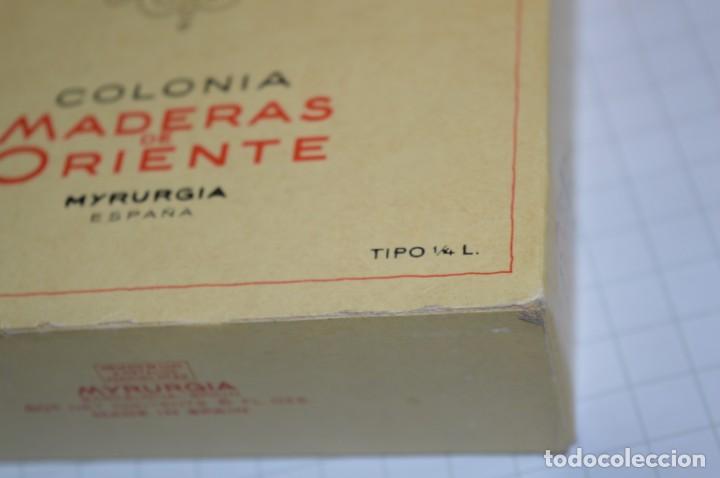 Miniaturas de perfumes antiguos: 1/4 Litro / Muy antiguo, frasco / MADERAS DE ORIENTE - MYRURGIA - Original - ¡Mira fotos/detalles! - Foto 10 - 260832050
