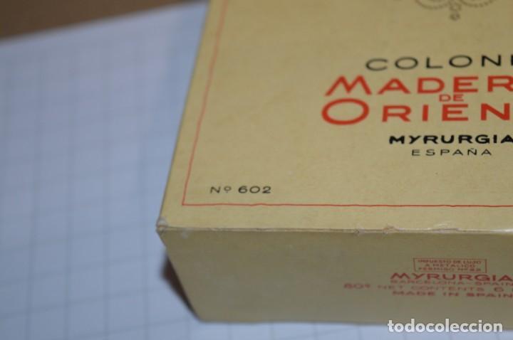 Miniaturas de perfumes antiguos: 1/4 Litro / Muy antiguo, frasco / MADERAS DE ORIENTE - MYRURGIA - Original - ¡Mira fotos/detalles! - Foto 11 - 260832050