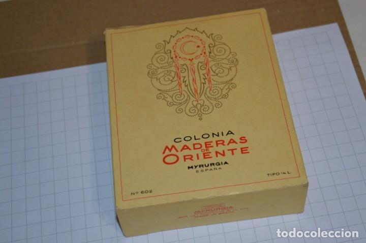 Miniaturas de perfumes antiguos: 1/4 Litro / Muy antiguo, frasco / MADERAS DE ORIENTE - MYRURGIA - Original - ¡Mira fotos/detalles! - Foto 12 - 260832050