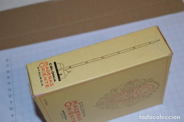 Miniaturas de perfumes antiguos: 1/4 Litro / Muy antiguo, frasco / MADERAS DE ORIENTE - MYRURGIA - Original - ¡Mira fotos/detalles! - Foto 13 - 260832050